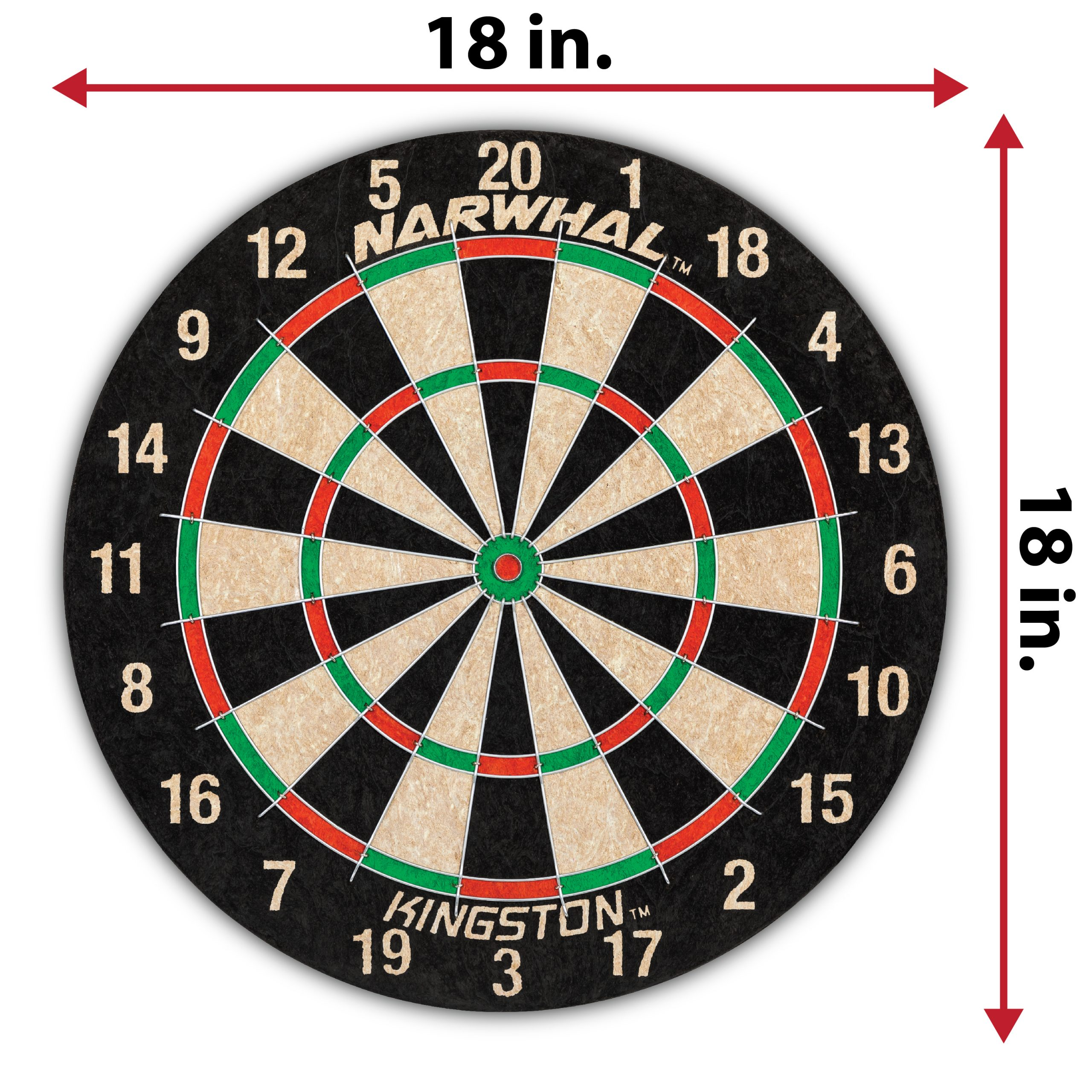 Dartboard official size