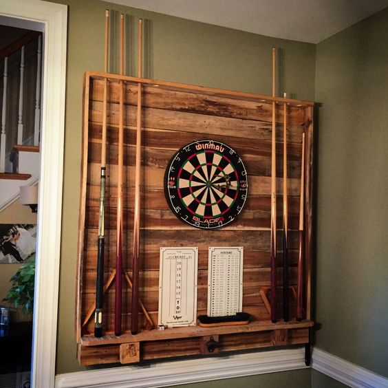 dartboard on the wall